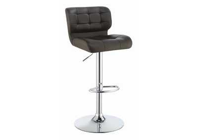 Brown Adjustable Bar Stool (Set of 2)