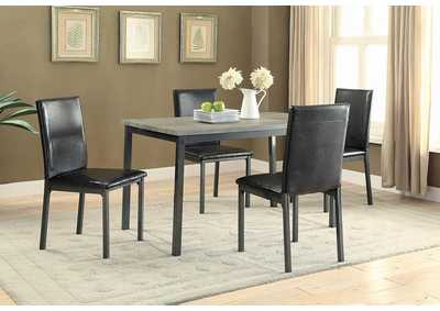 Garza Black Upholstered Side Chair (Set of 2)
