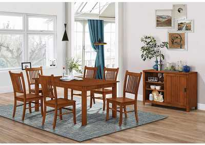 Light Oak Side Chair (Set of 2)