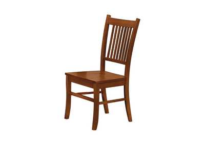Image for Jambalaya Marbrisa Mission Burnished Oak Side Dining Chair [Set of 2]