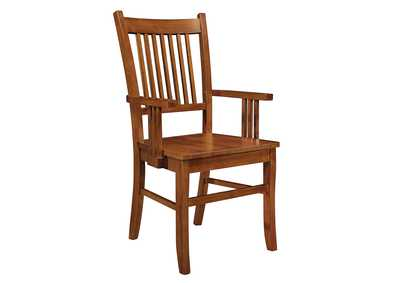 Light Oak Arm Chair (Set of 2)