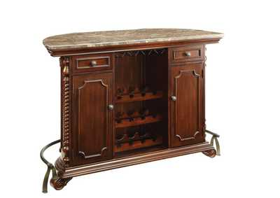 Image for Grey Marble Rec Room Traditional Bar Unit