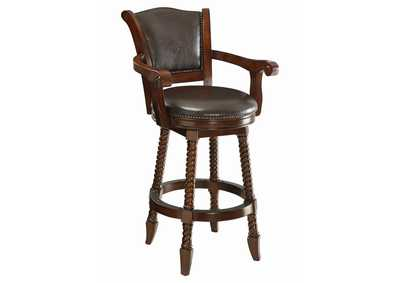 Image for Fuscous Gray Rec Room Traditional Bar Stool