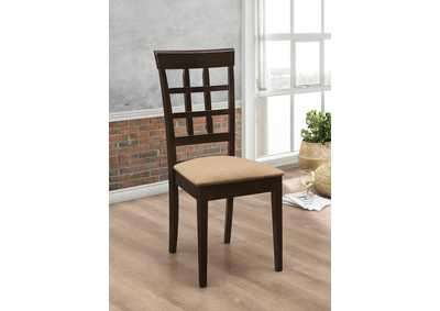 Cappuccino Wheat Back Side Chair (Set of 2),Coaster Furniture