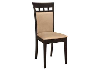 Cappuccino Cushion Back Side Chair (Set of 2)