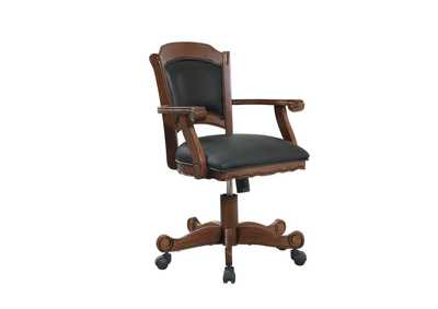 Image for Casual Black and Tobacco Upholstered Game Chair