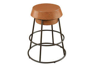 Brown/Black Counter Height Stool (Set of 2)