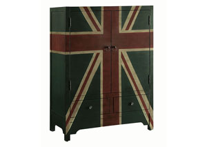 Black & Green Accent Cabinet