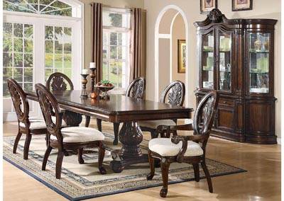 Tabitha Dark Cherry Pedestal Dining Table