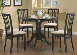 Image for Table w/4 Beige & Cappuccino Chairs