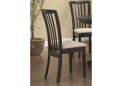 Beige & Cappuccino Chair (Set of 2)