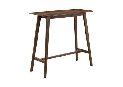 Image for Millbrook Mid-Century Natural Walnut Bar Table