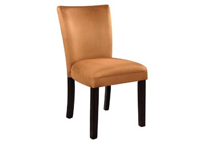 Gold & Cappuccino Parson Chair (Set of 2)