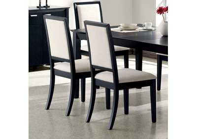 Lexton Cream & Black Side Chair (Set of 2)