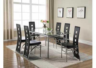 Black & Silver Dining Chair (Set of 2)