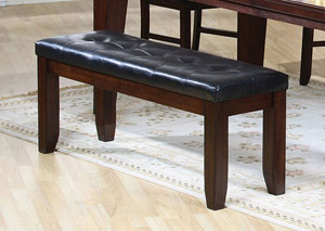 Dark Brown & Oak Bench