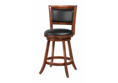 Image for Upholstered Swivel Counter Height Stools Chestnut And Black [Set of 2]