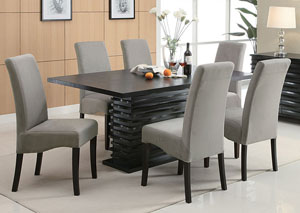 Stanton Black Rectangular Dining Table