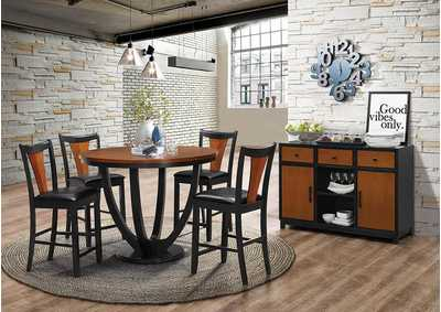 Boyer Amber and Black Side Chair (Set of 2)