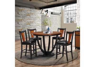 Boyer Amber and Black Counter Chair (Set of 2)