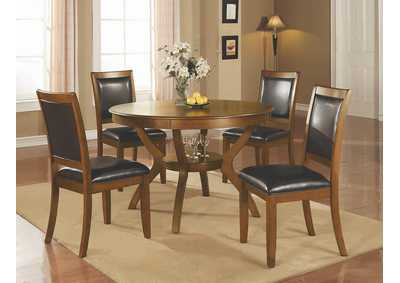 Nelms Black & Walnut Chair (Set of 2)