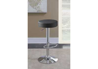 Image for Tundora Black Faux Leather Adjustable Bar Stool
