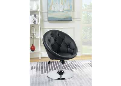 Black & Chrome Swivel Chair