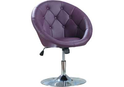 Pink/Purple & Chrome Swivel Chair