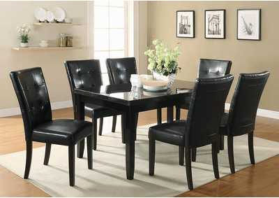 Anisa Black & Cappuccino Side Chair (Set of 2)