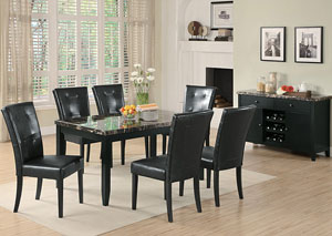 Anisa Black Dining Table w/6 Side Chairs