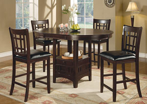 Image for Counter Height Table w/4 Bar Stools