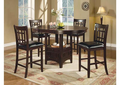 Dark Brown & Cappuccino 24in Bar Stool (Set of 2)