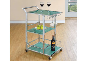 Turquoise Serving Cart