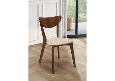 Kersey Montery & Walnut Dining Chair w/Cushion Seat (Set of 2)