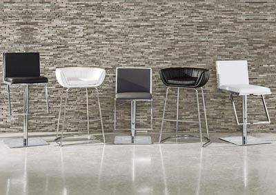 Grey/Chrome Bar Stool