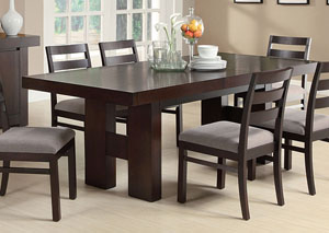 Dabny Cappuccino Dining Table