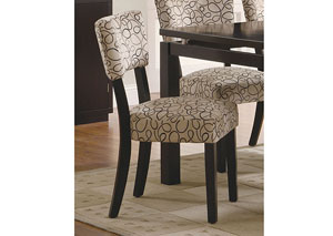 Libby Tan & Cappuccino Side Chair (Set of 2)