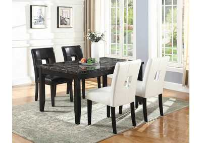 Timothy White & Cappuccino Dining Chair (Set of 2)
