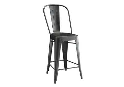 Lahner Black Counter Chair (Set of 2)