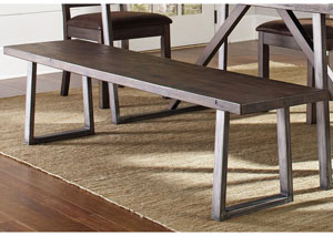 Genoa Wire Brushed Cocoa/ Black Bench