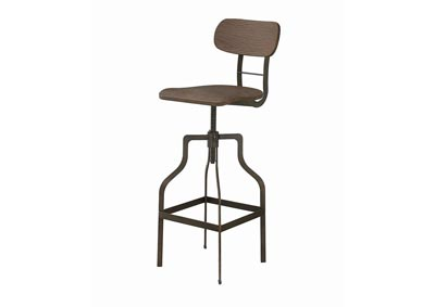 Light Brown and Bronze Bar Stool
