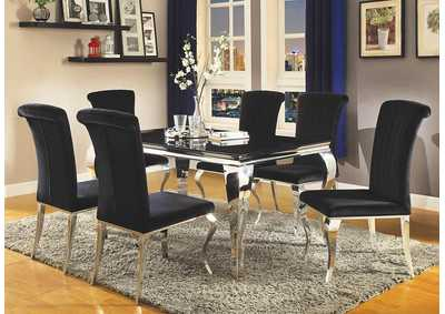 Barzini Dining Black Dining Table