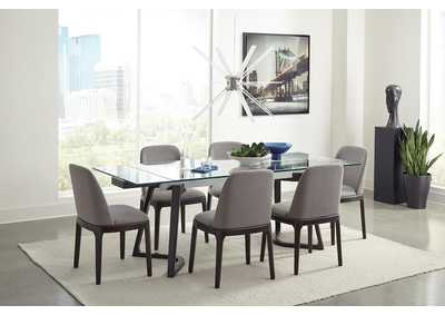 Annapolis Espresso & Grey 5 Piece Dining Set