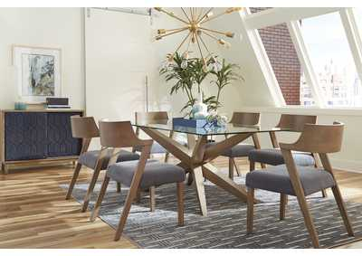 Image for Artesia Satin Linen 5 Piece Dining Set