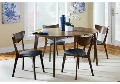 Malone Dark Walnut Dining Chair (Set of 2)