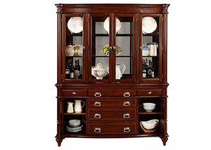 Dark Cognac China Cabinet