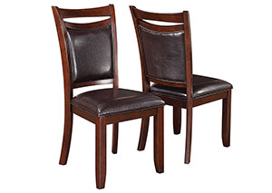 Dark Brown & Dark Cherry Dining Chair (Set of 2)