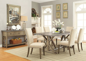 Dining Table w/6 Chair & Server