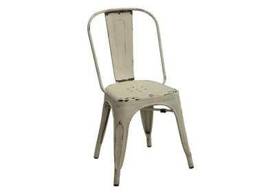 White Bellevue Rustic White Side Dining Chair [Set of 4]