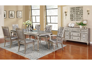 Rectangular Dining Table w/4 Side Chairs & 2 Arm Chairs